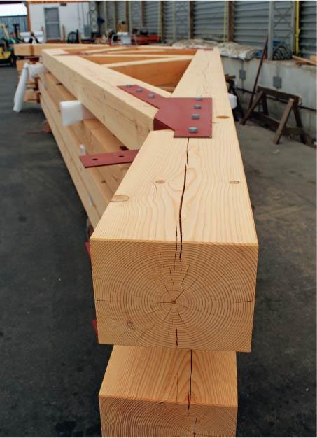 Preassembled douglas fir timber trusses
