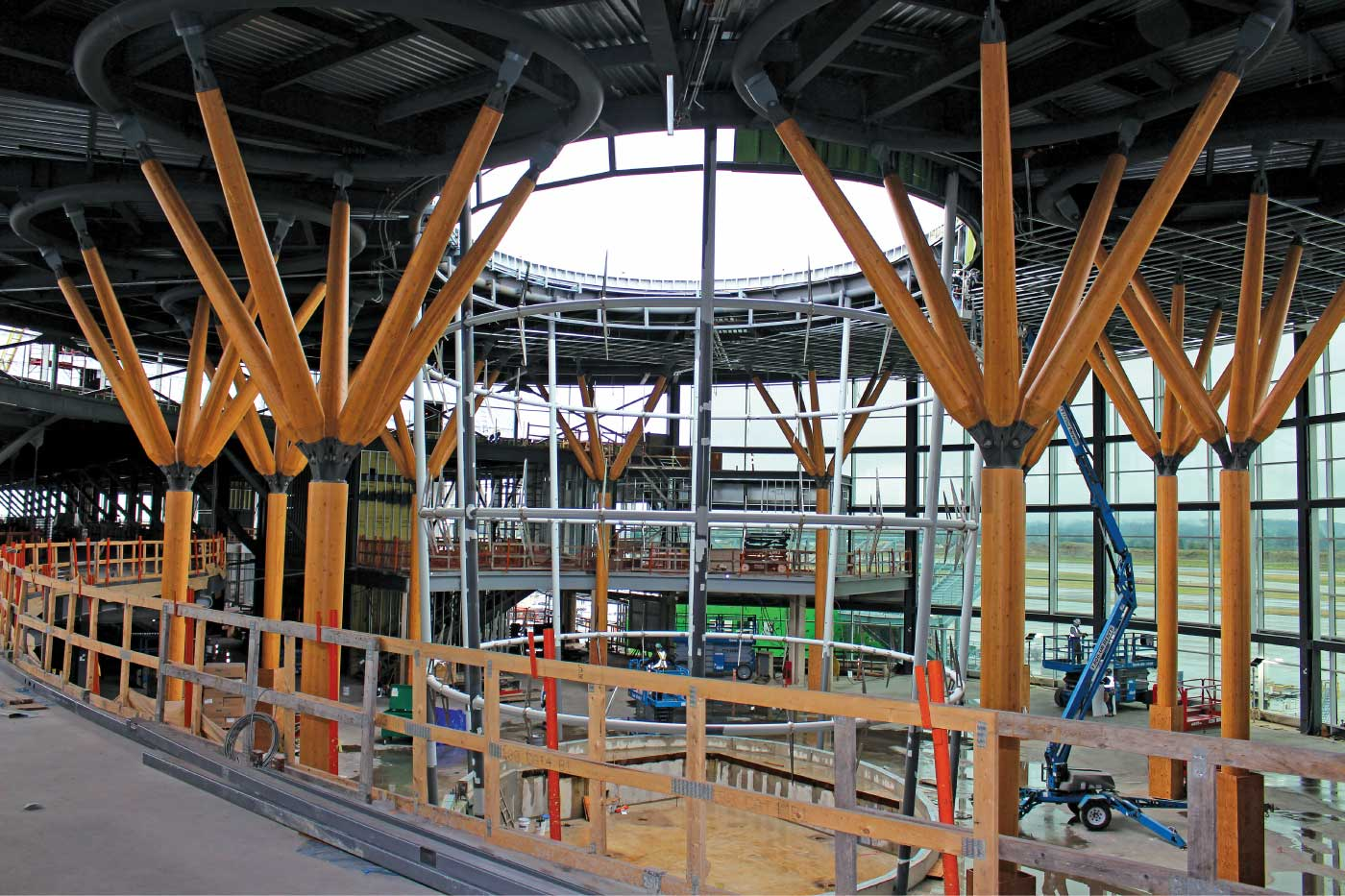 YVR Pier D Expansion during construction