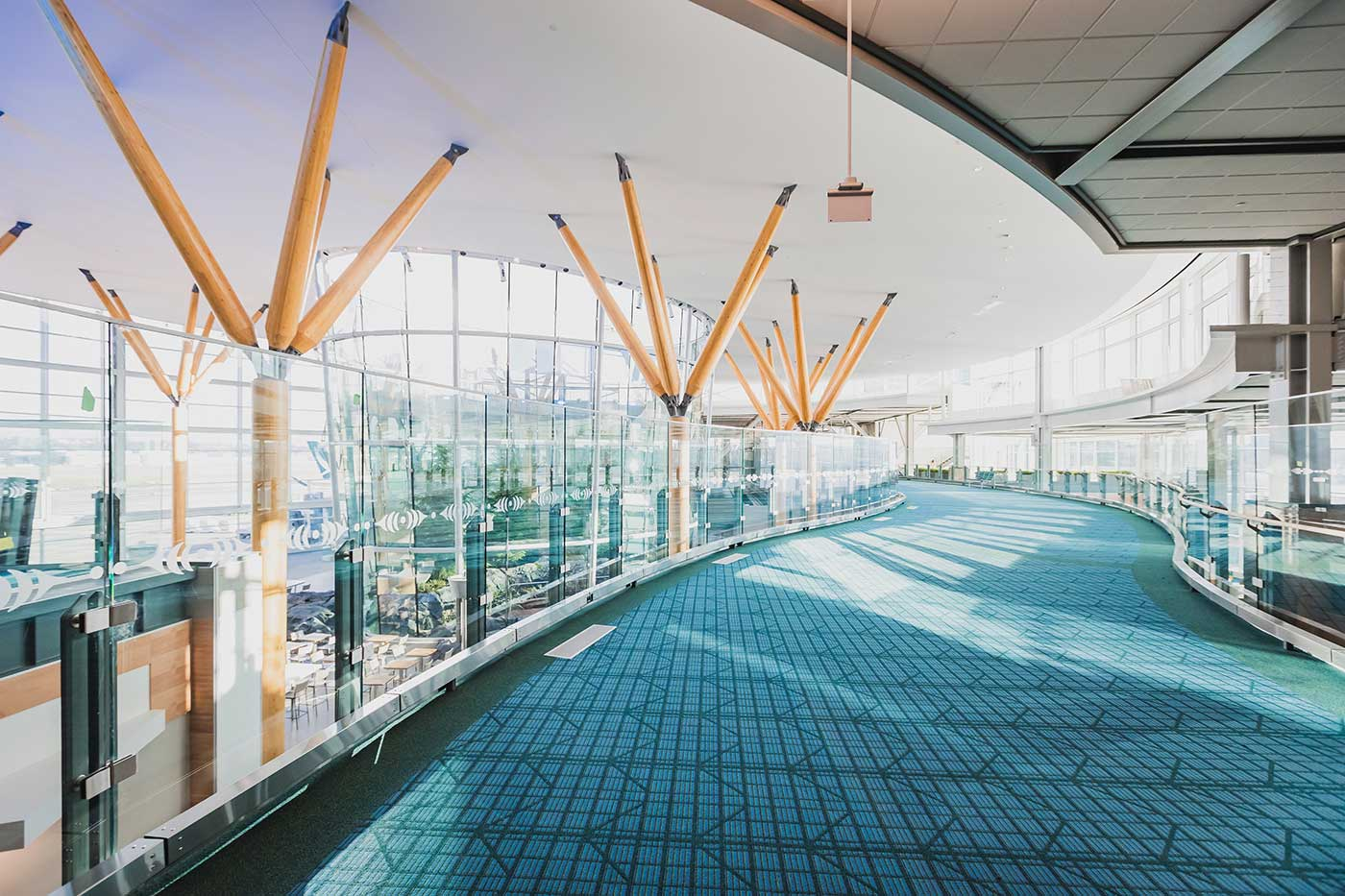 YVR Pier D Expansion completed seating area