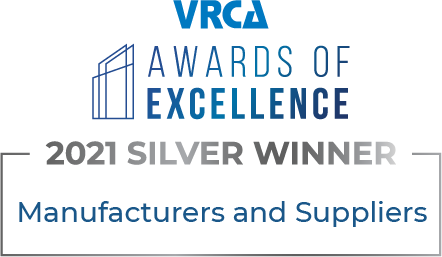 VRCA Awards of Excellence 2021 Silver Winner for Manufacturers and Suppliers