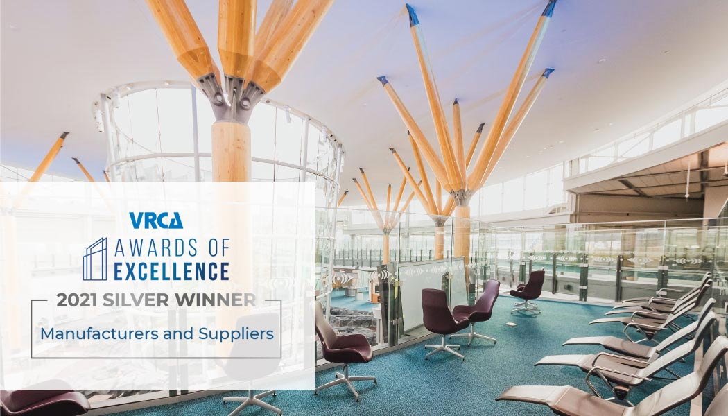 YVR Airport VRCA Awards of Excellence 2021 Silver Winner for Manufacturers and Suppliers